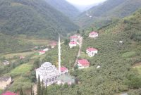Uçarsu köyünün havadan görünüşü